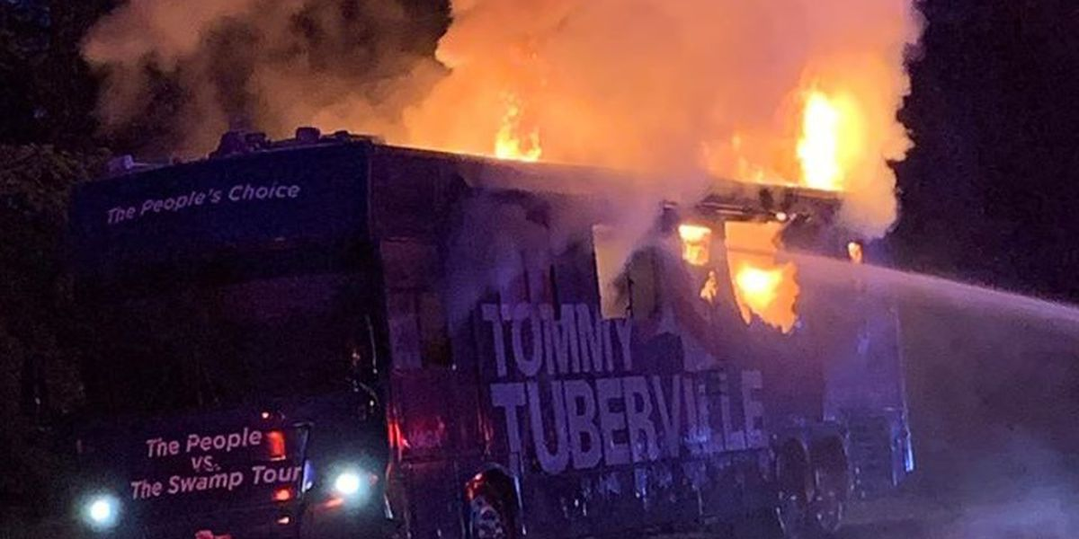 Tuberville campaign vehicle catches fire in DeKalb County