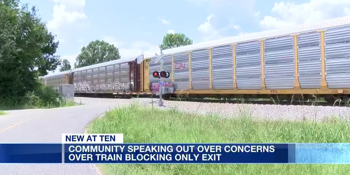 Neighborhood upset train continuously blocks only entrance