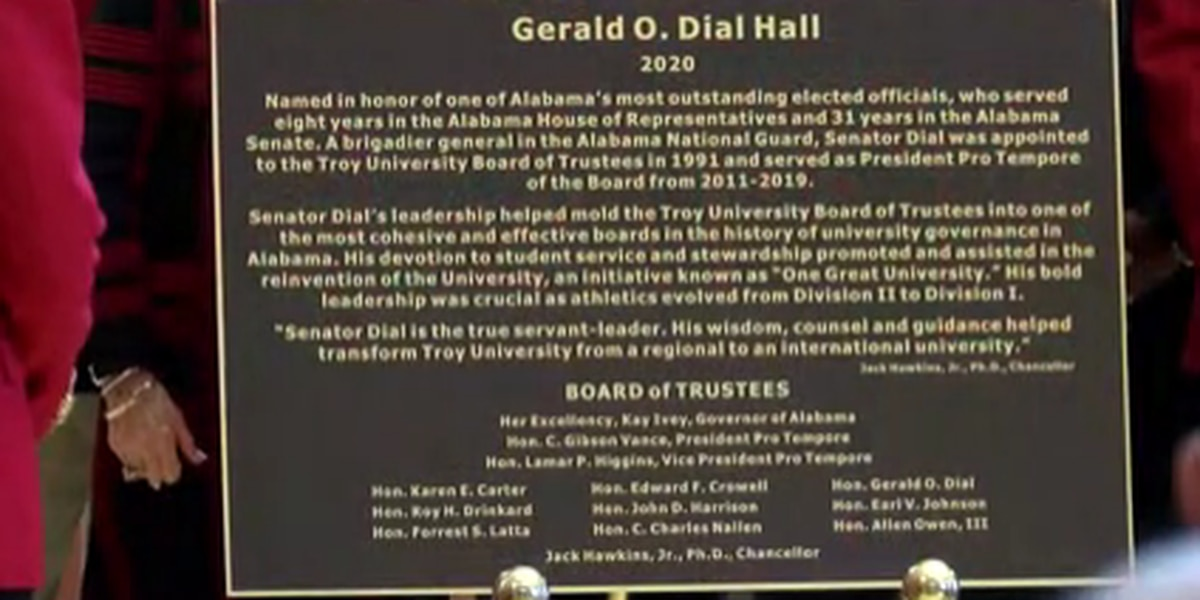 Troy University building dedicated to former Alabama senator