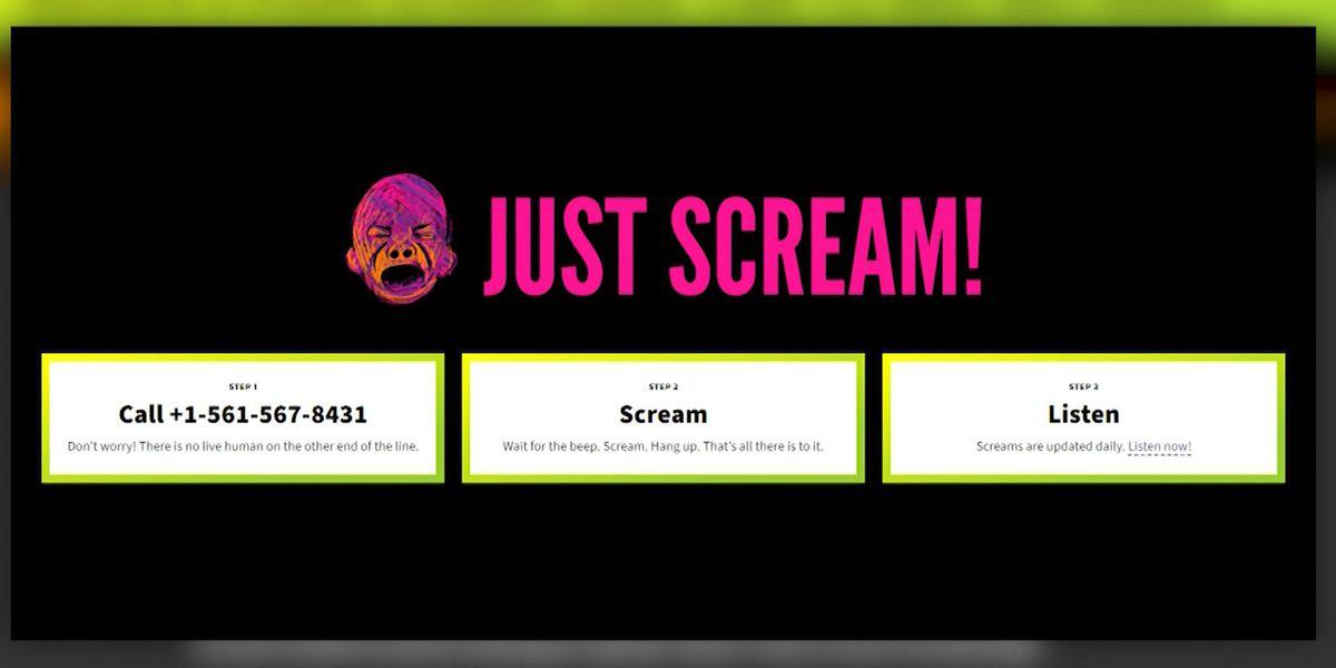 Sick of 2021? Just Scream! hotline offers relief