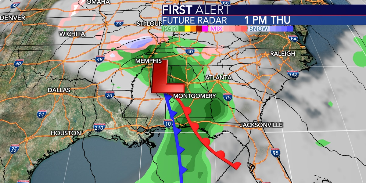 Two systems eye Alabama bringing rain and cooler temps