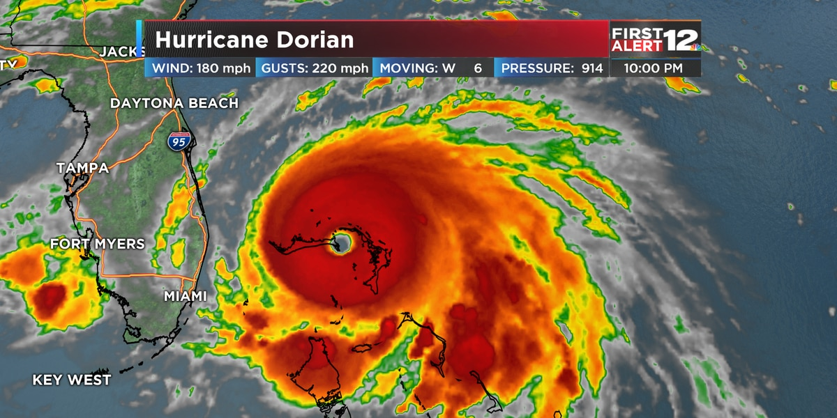 First Alert: Dorian an extremely dangerous category 5 hurricane, ravaging the Bahamas
