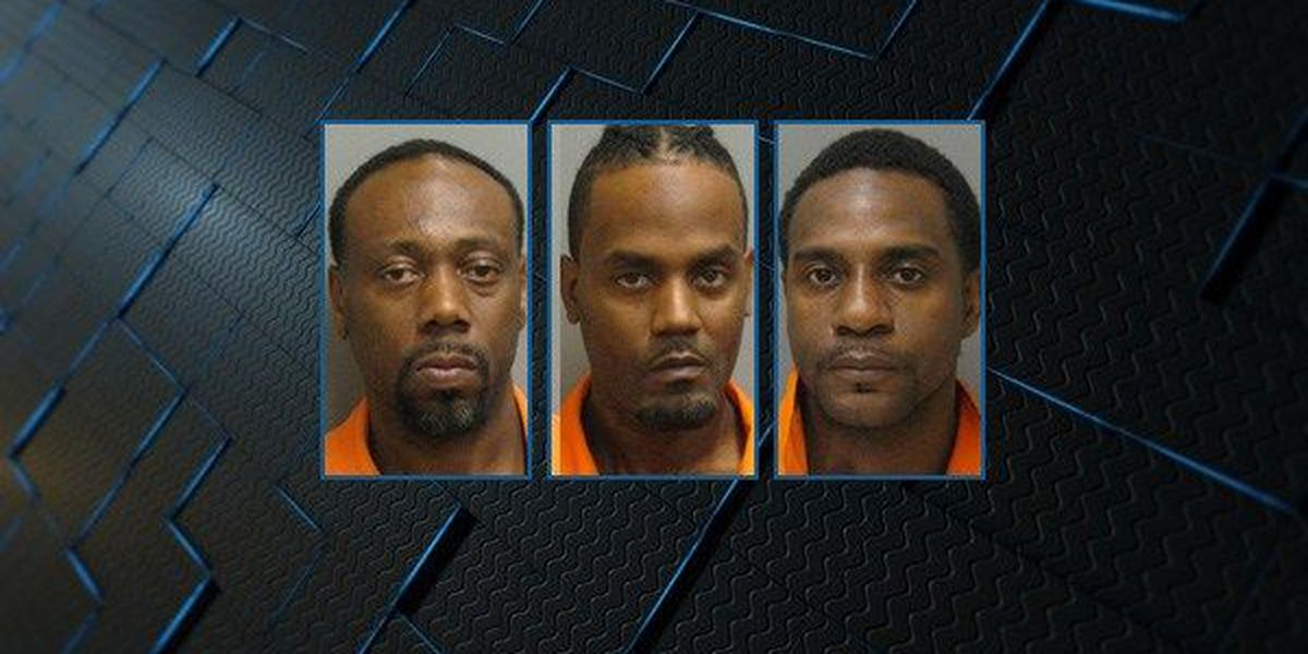 3 men charged with trafficking illegal drugs in Montgomery