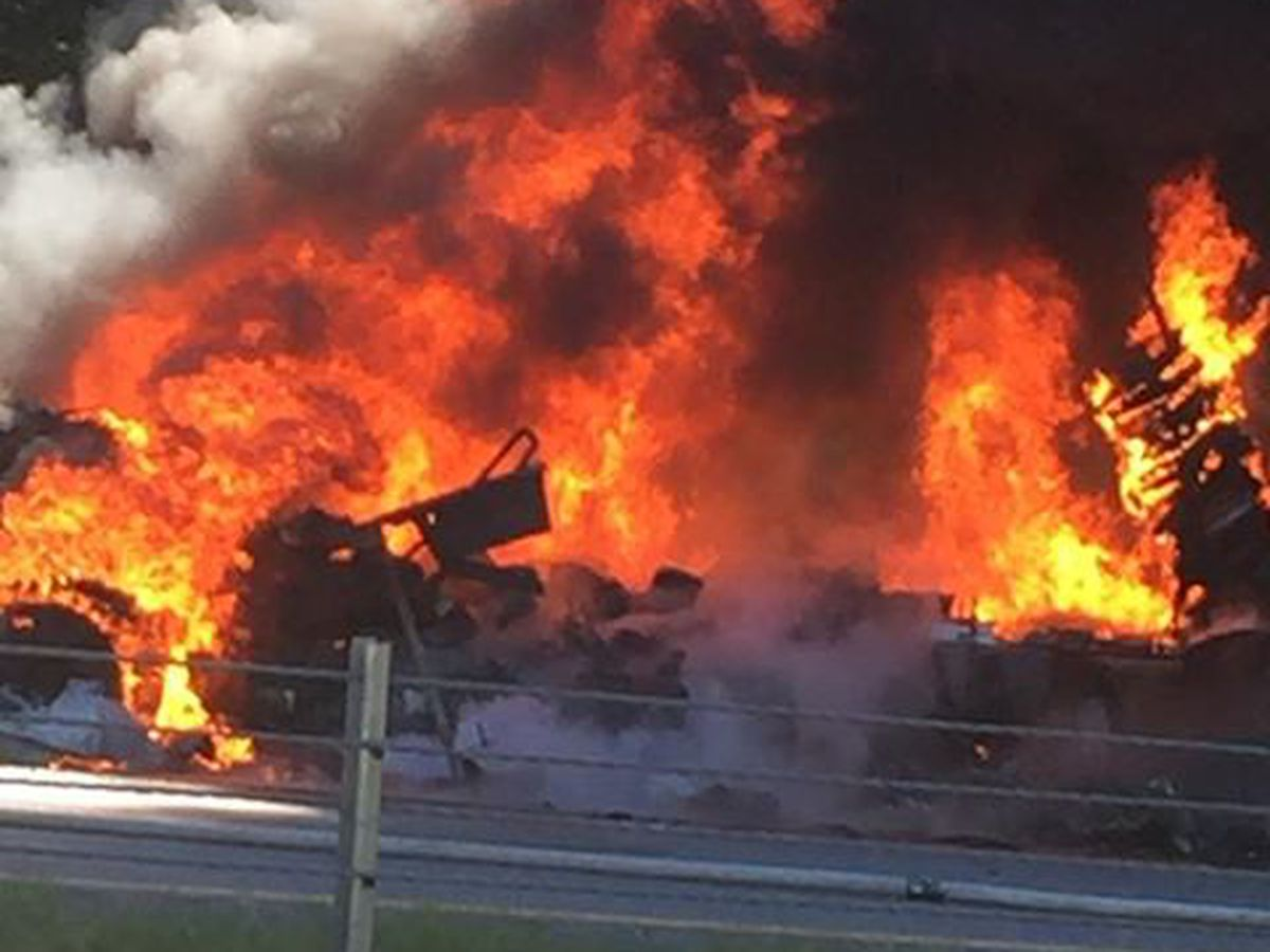 Truck fire delays traffic on I-85 near Auburn