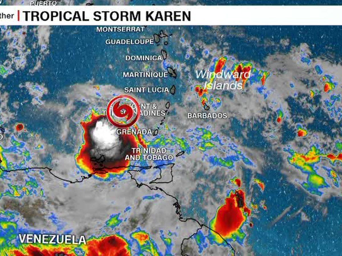 Tropical storms approaching Puerto Rico, Bermuda