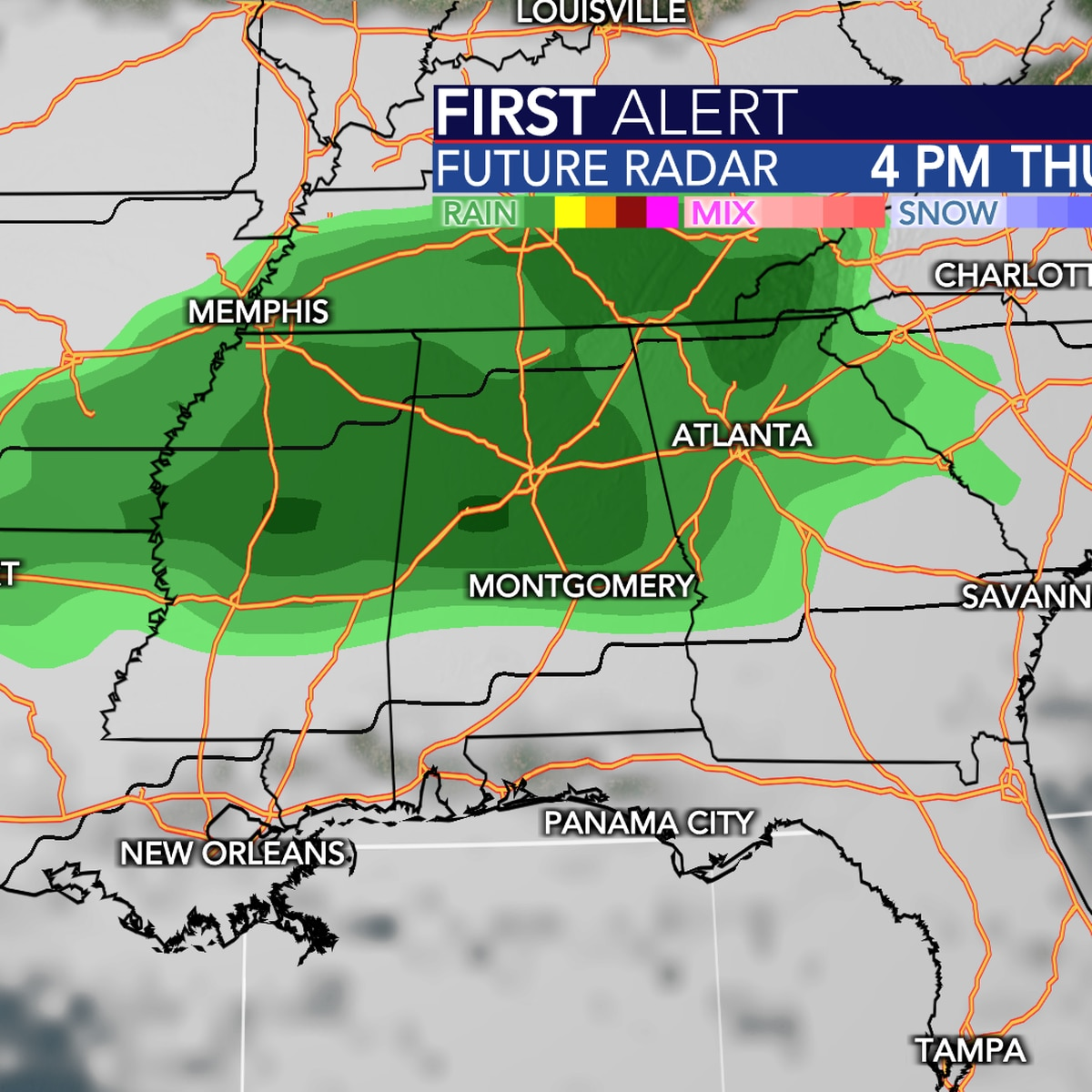 Get ready for the 60s and a good shot of rainfall