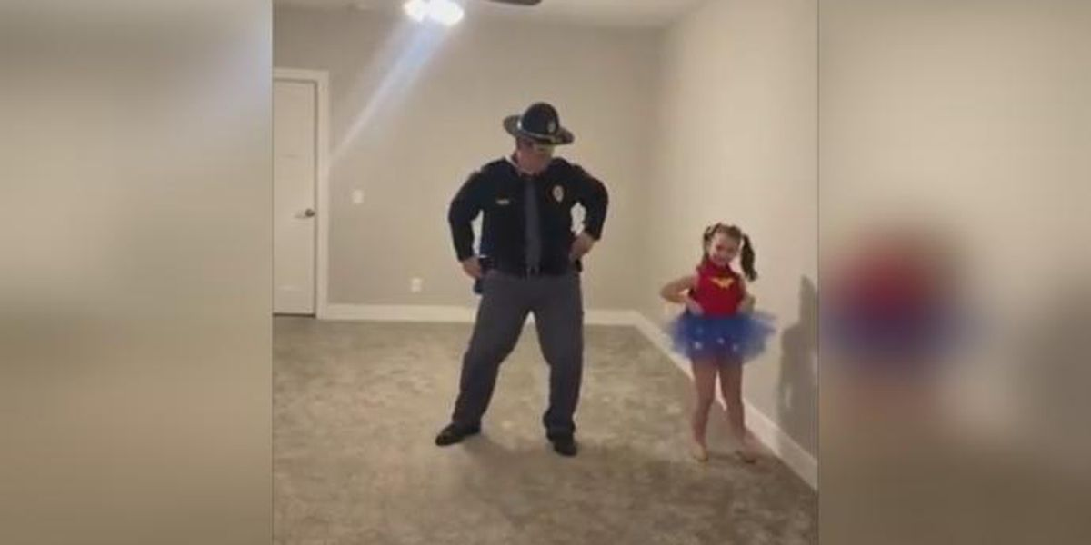 VIDEO: Nebraska trooper learns daughter's dance routine after coronavirus cancels competition