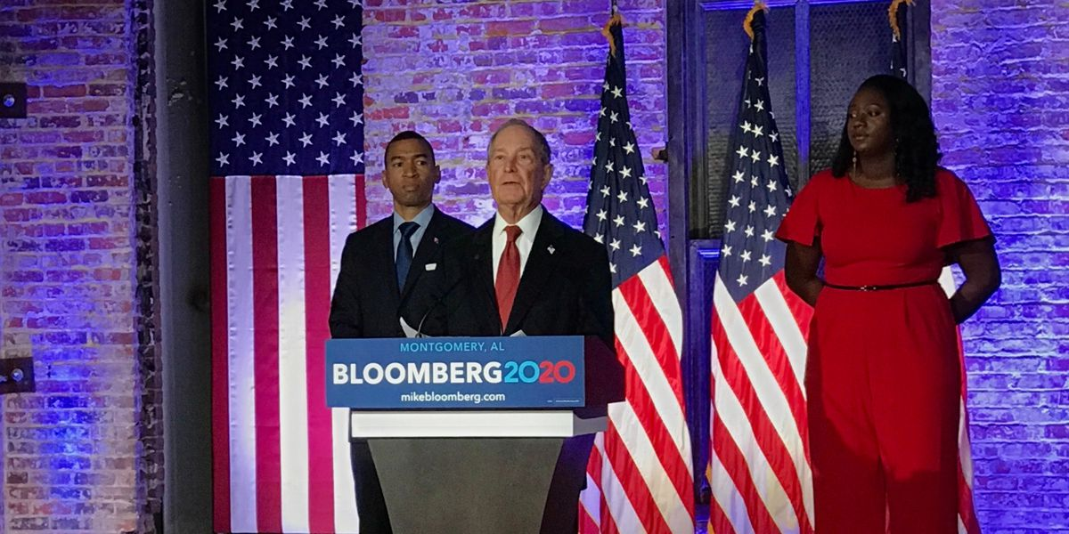 Presidential candidate Mike Bloomberg to be in Montgomery Saturday