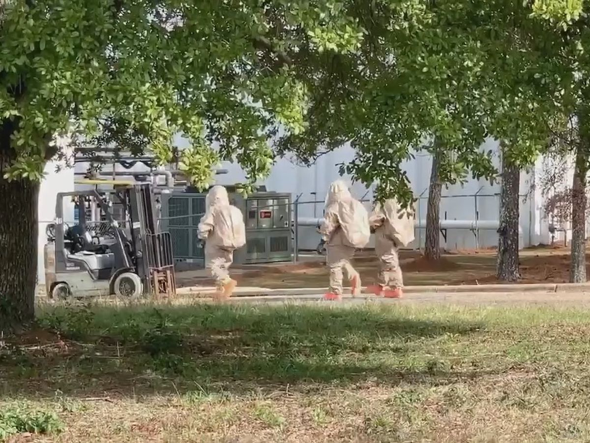 11 treated after chemical reaction at Montgomery facility