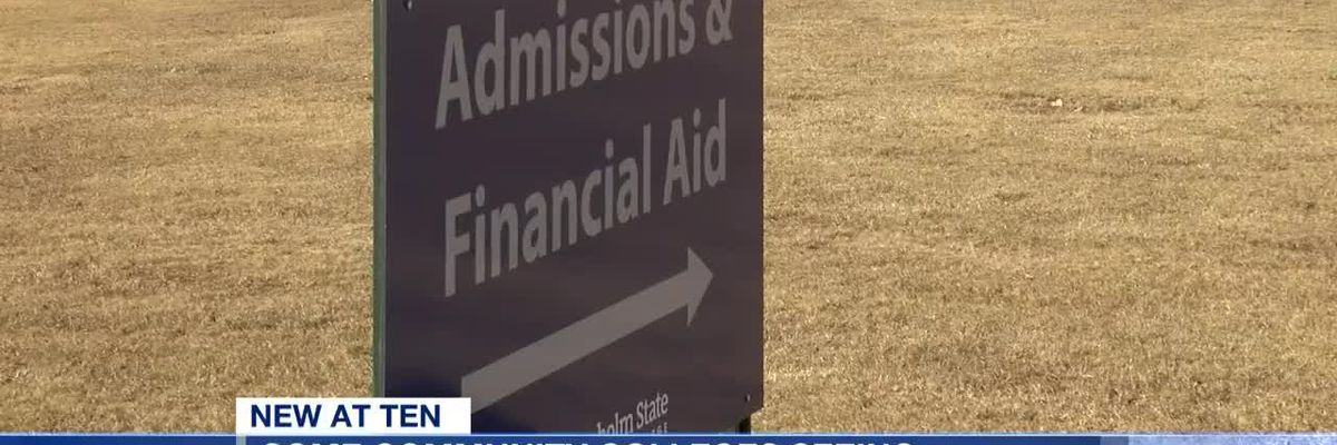Some community colleges seeing increase in applications