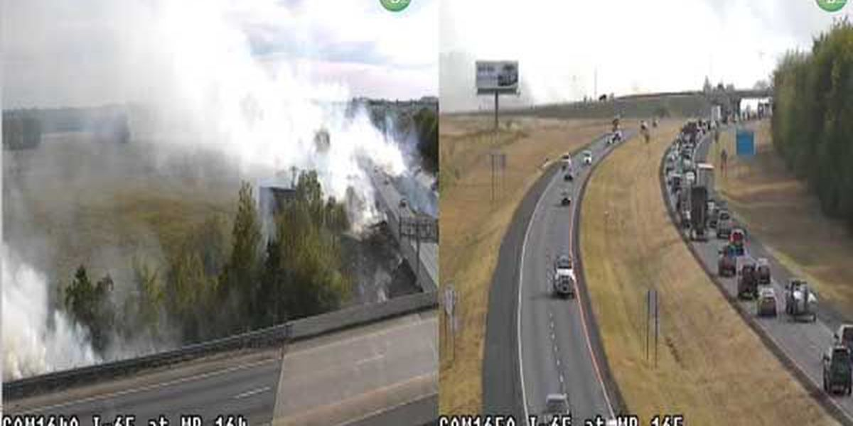 Grass fire slows traffic on Interstate 65 Monday afternoon