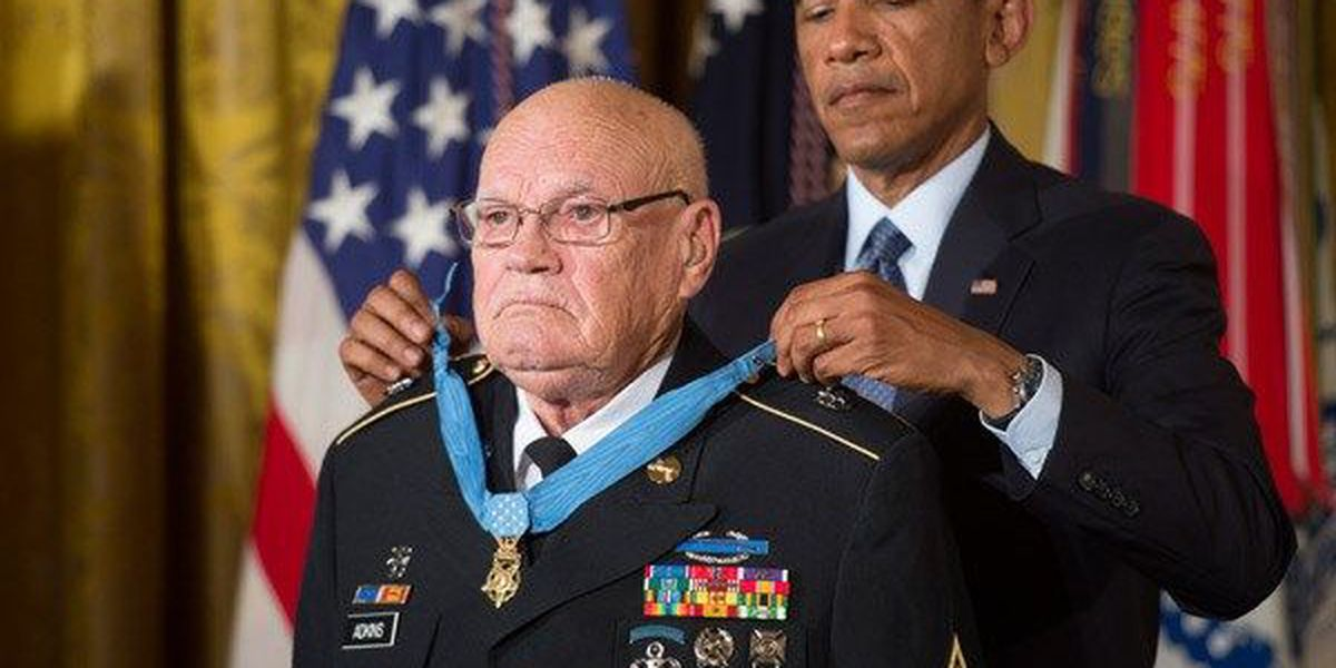 East Alabama Medal of Honor recipient Bennie Adkins hospitalized with COVID-19