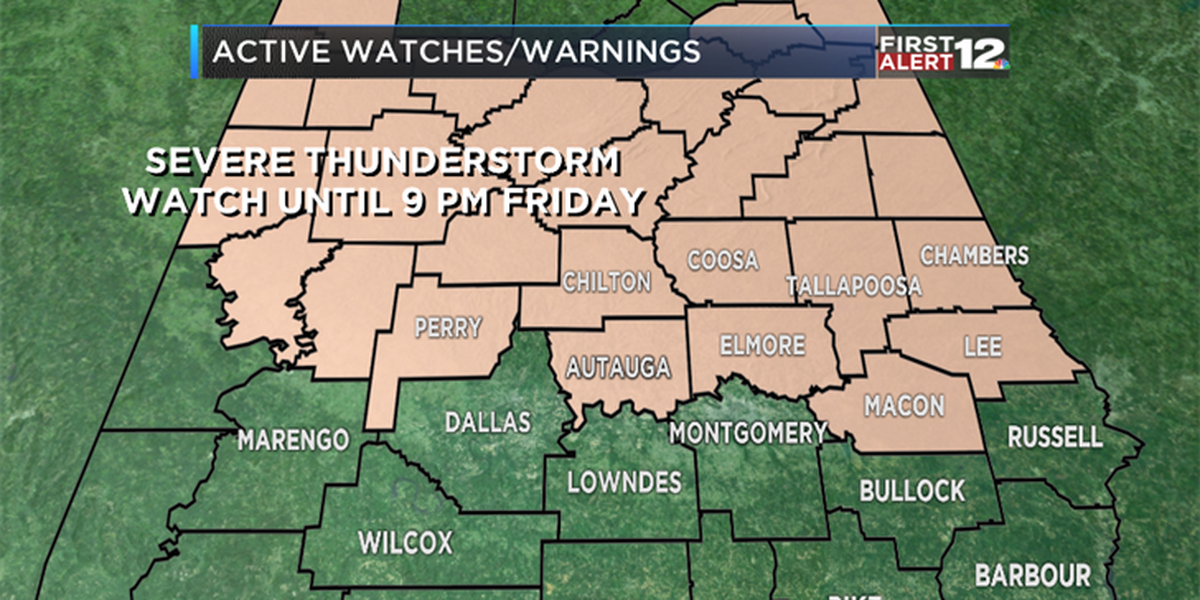 First Alert: Severe Thunderstorm Watch for some, heat for everyone