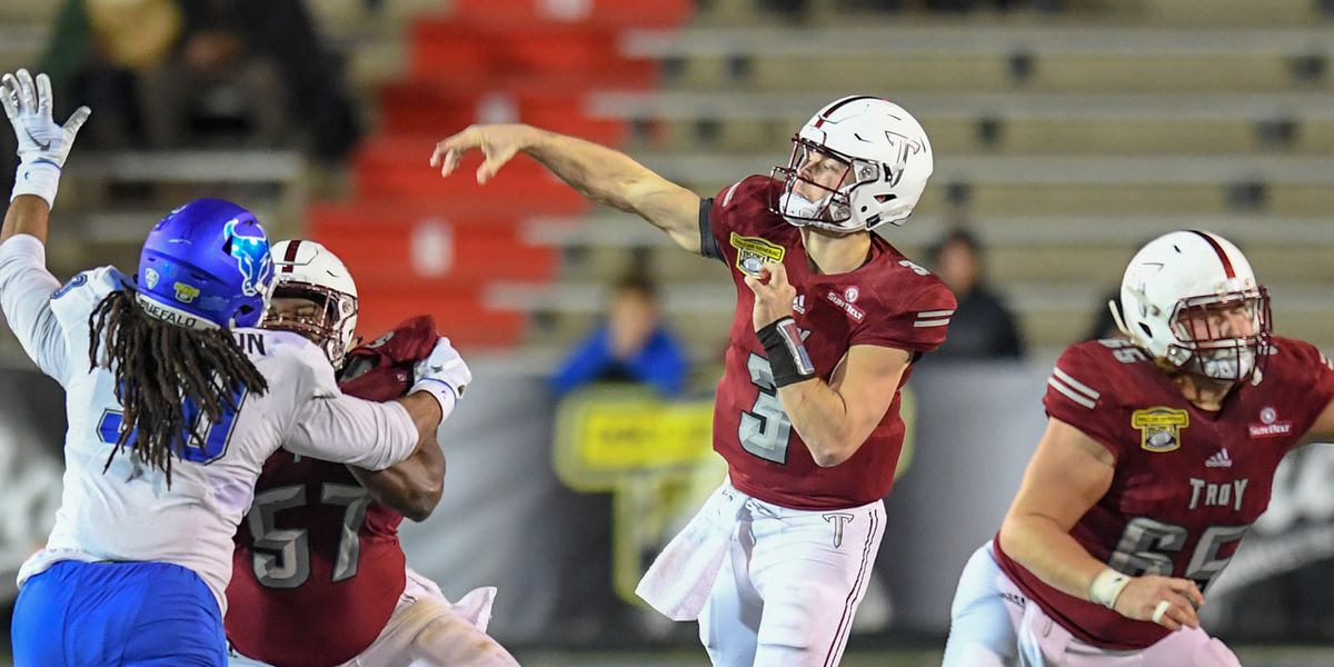 Troy makes school history with Dollar General Bowl win