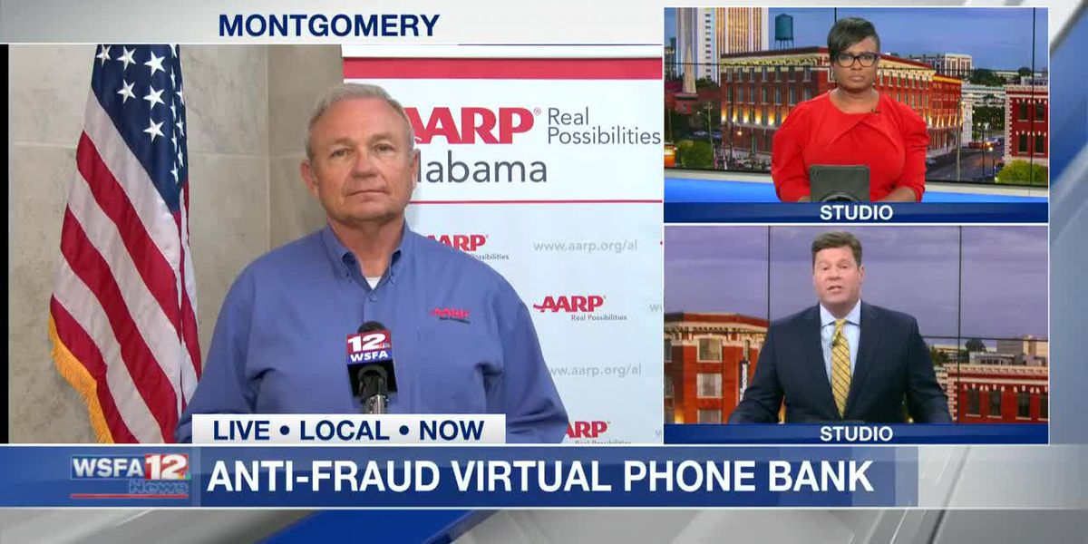 AARP discusses common scams during WSFA 12 News Anti-Fraud Virtual Phone Bank
