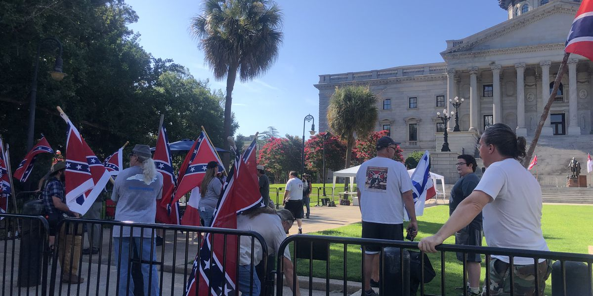 Dozens gather for pro-confederate flag rally at SC State House