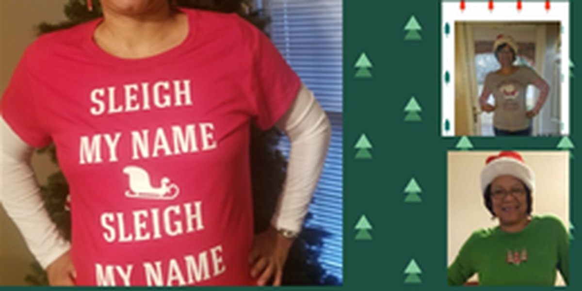 Christmas teacher decked out all month long