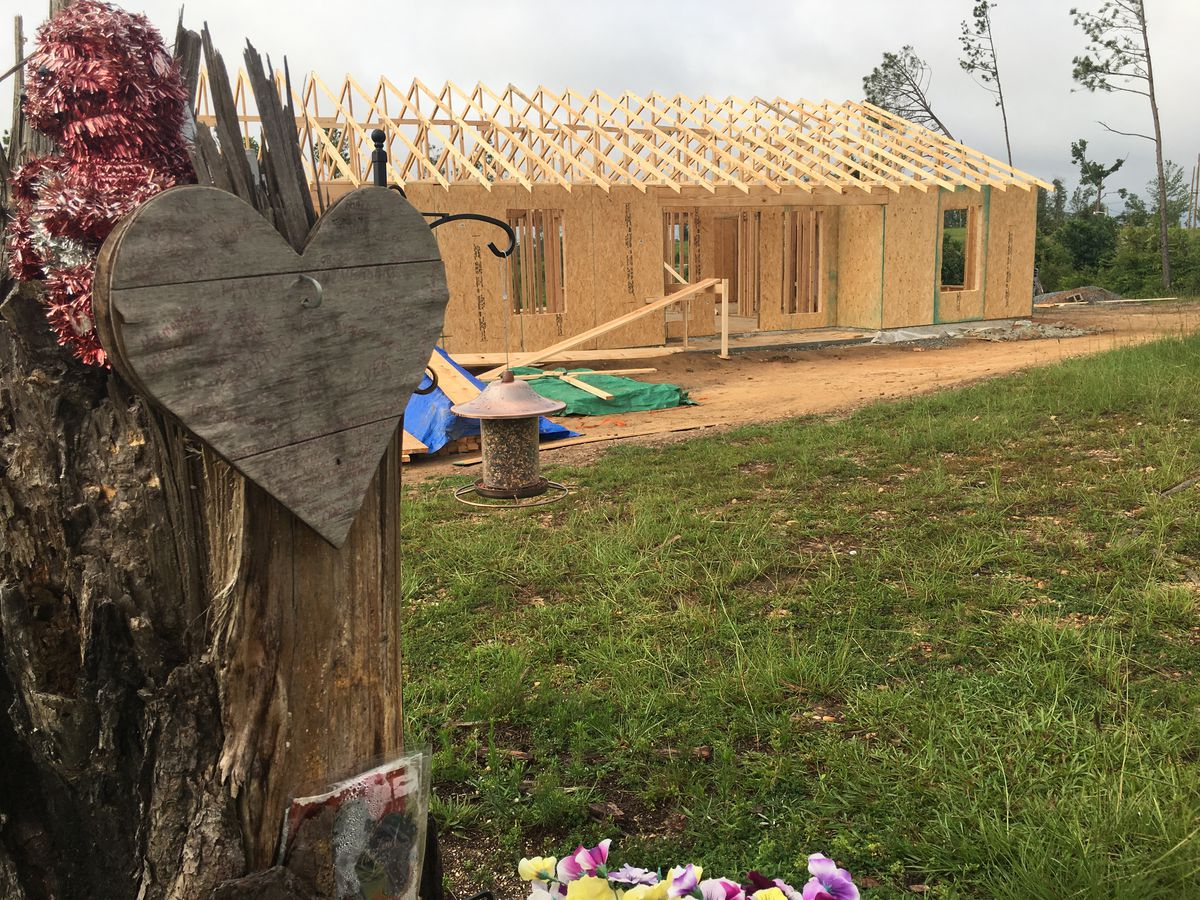 Arkansas church volunteers frame new home for Lee County tornado survivor and widow