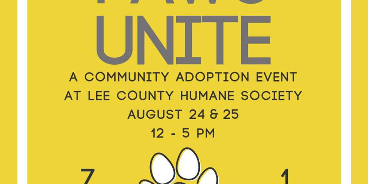 Lee County Humane Society hosting 2-day adoption extravaganza