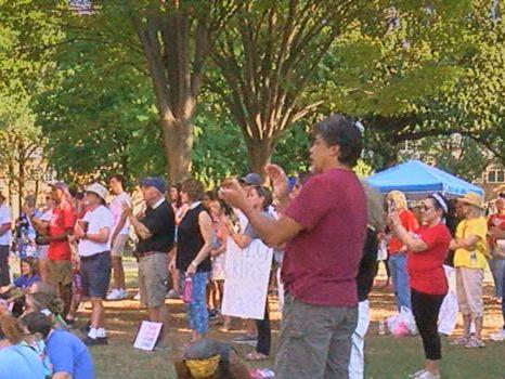 Dozens rally in Birmingham for stiffer gun laws