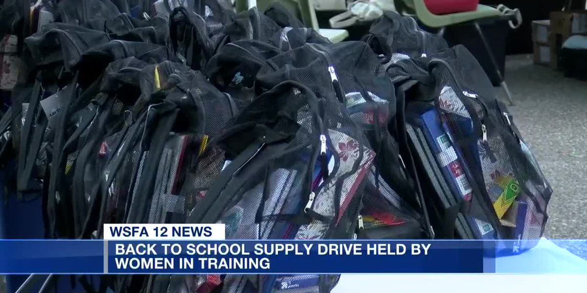 Back to school supply drive held by women in training
