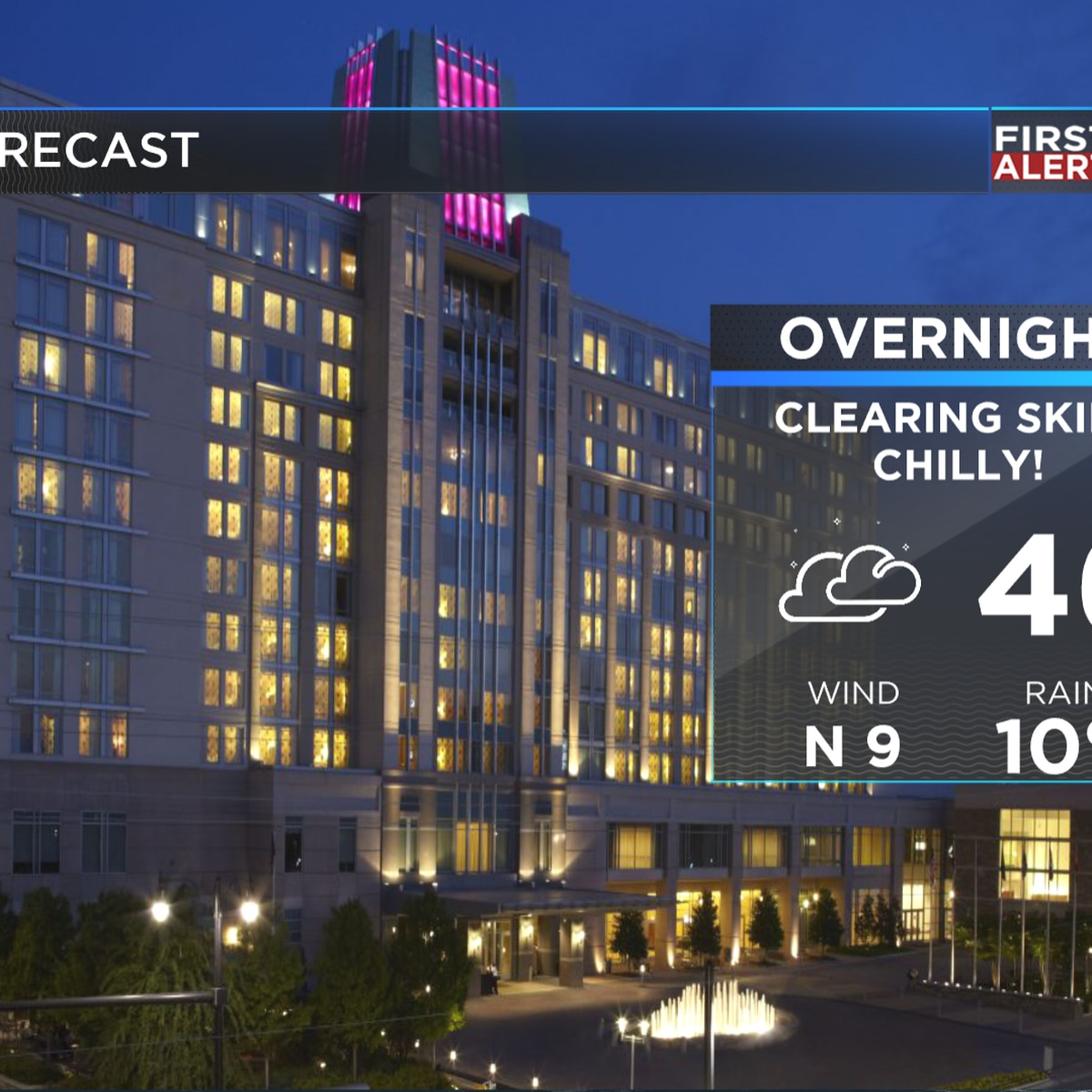 First Alert: Much cooler air filtering into the state