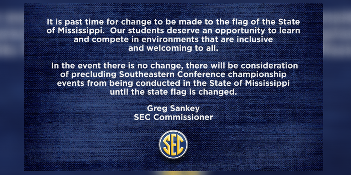 SEC Commissioner: 'It is past time for change to be made to the flag of... Mississippi'
