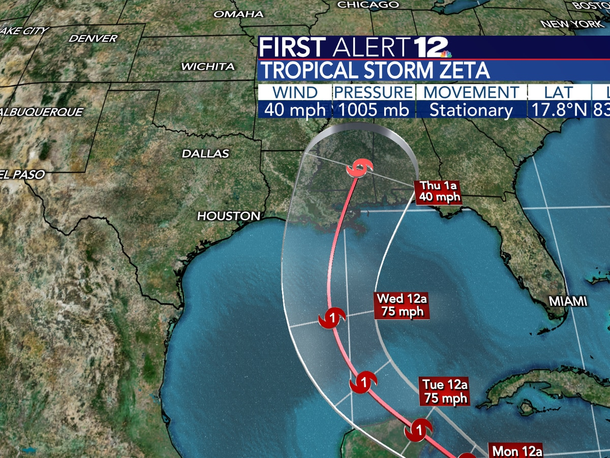 Tropical Storm Zeta and a cold front set to impact us next week