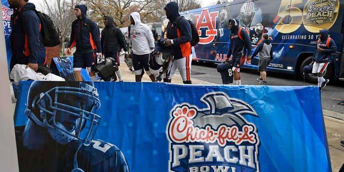 Auburn, UCF enjoy Atlanta ahead of 2018 Peach Bowl