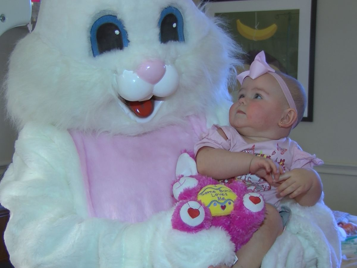 Easter Bunny visits sick children in Montgomery hospitals