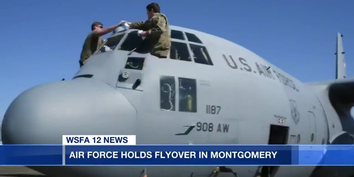 Air Force holds flyover in Montgomery