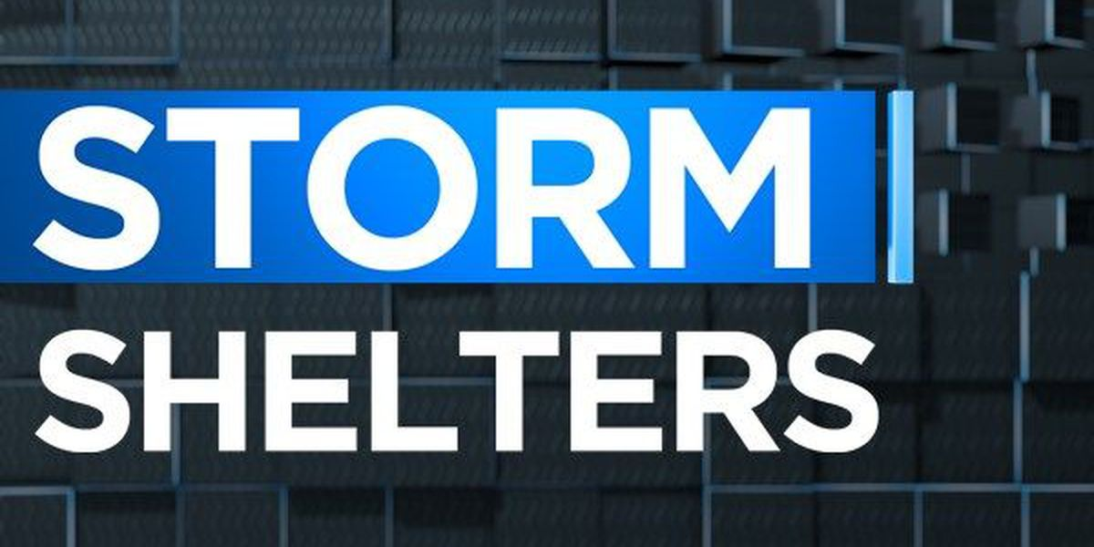 Storm shelters across central Alabama