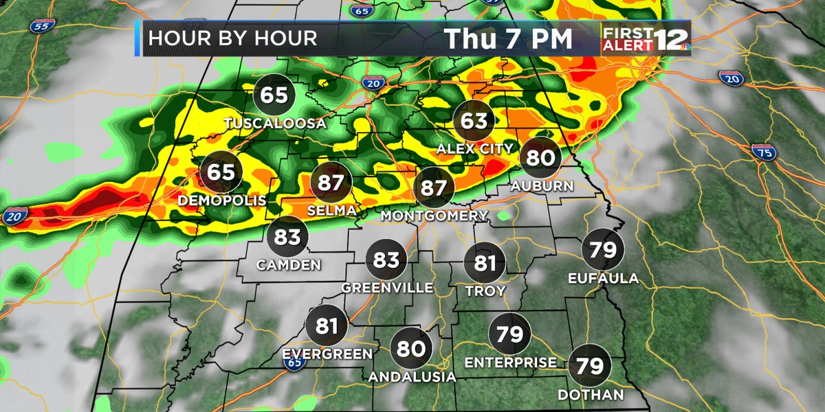 First Alert: Higher coverage of showers and storms Thursday