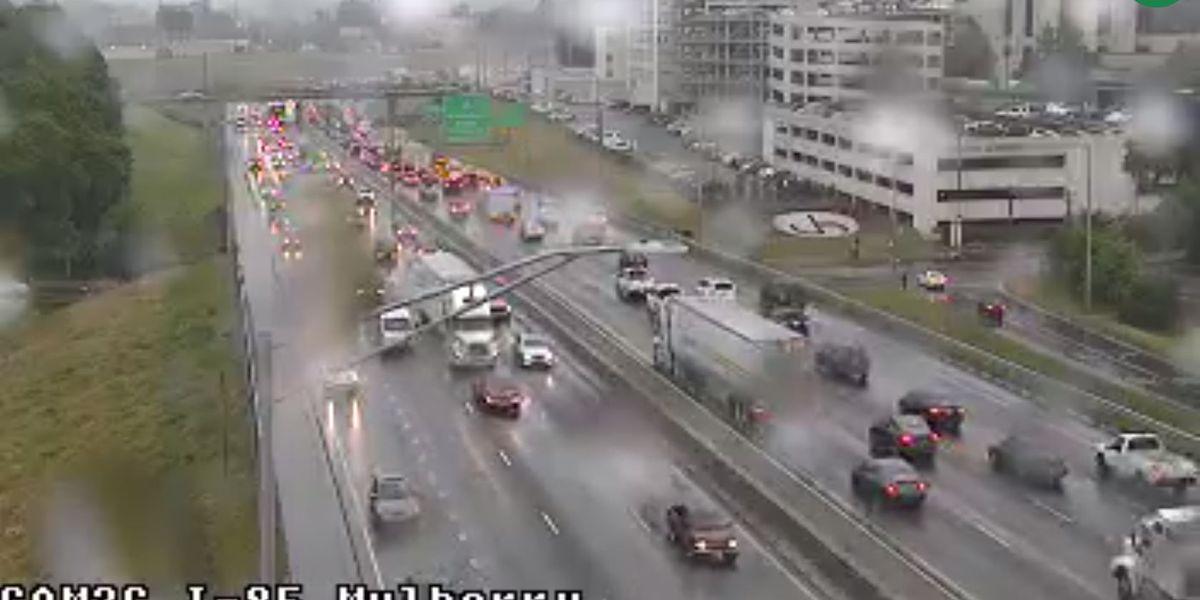 I-85 SB near interchange clear after delays