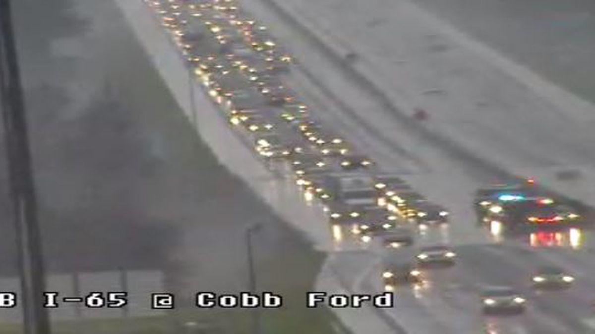 Traffic clear on I-65 NB near Cobbs Ford Road in Prattville