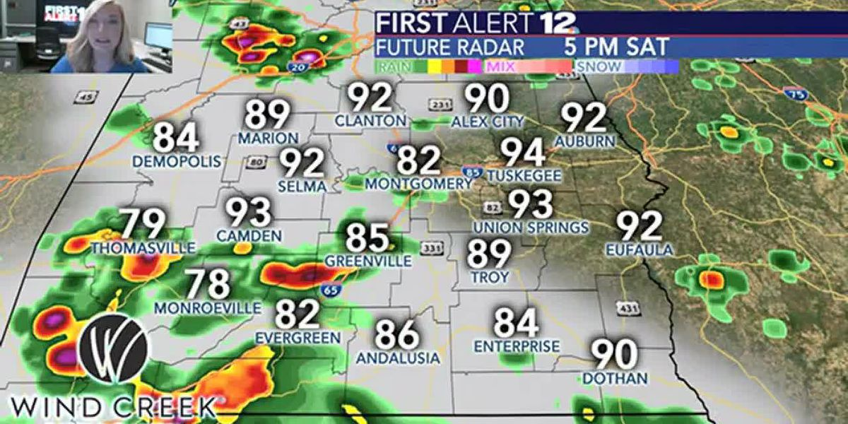 A look at today's thunderstorm chances
