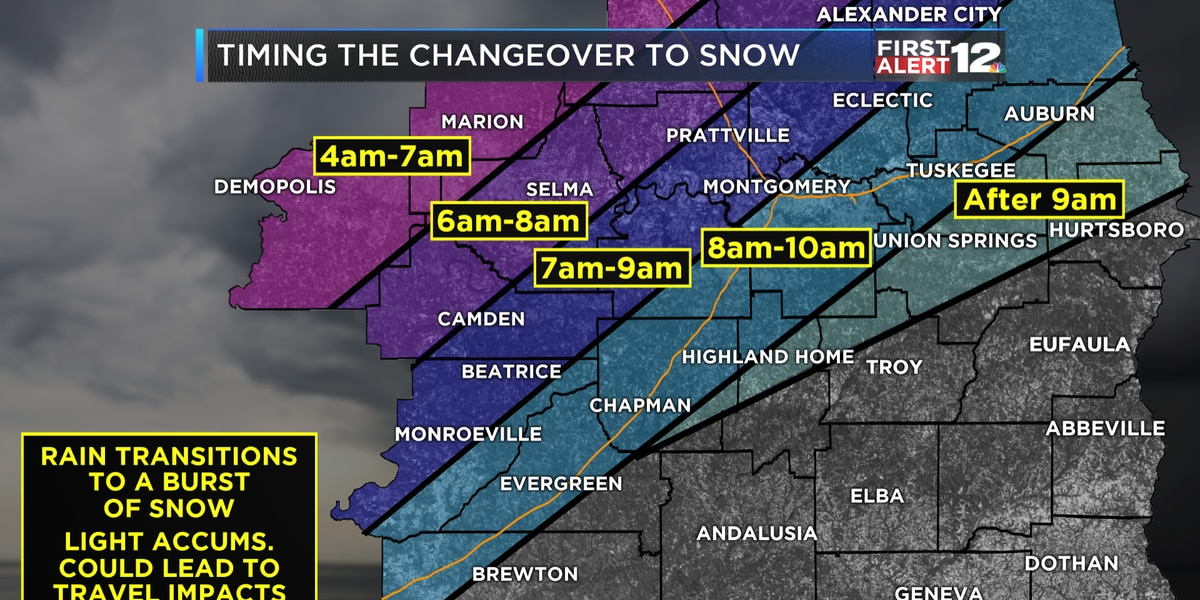 First Alert Weather Day declared for Tuesday