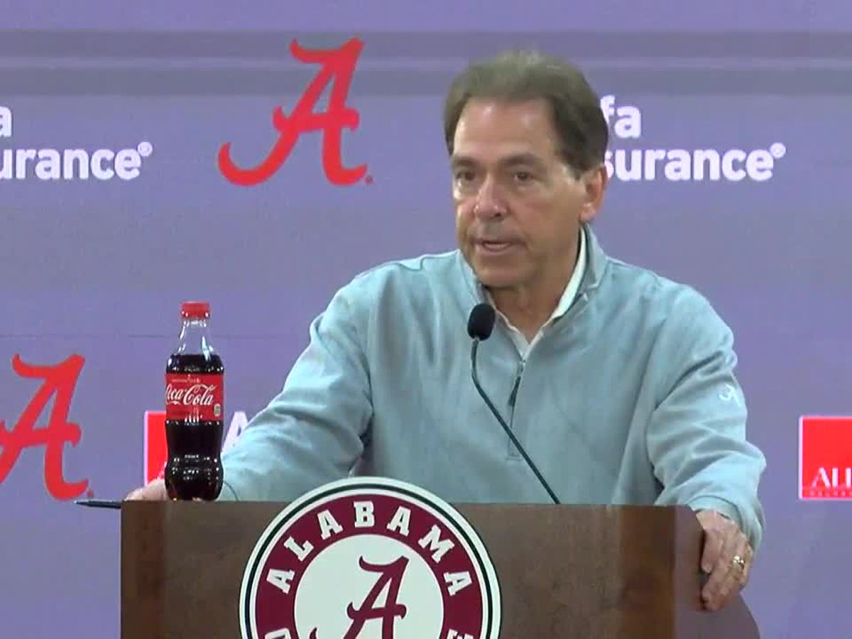 Nick Saban speaks ahead of this weekend's Iron Bowl