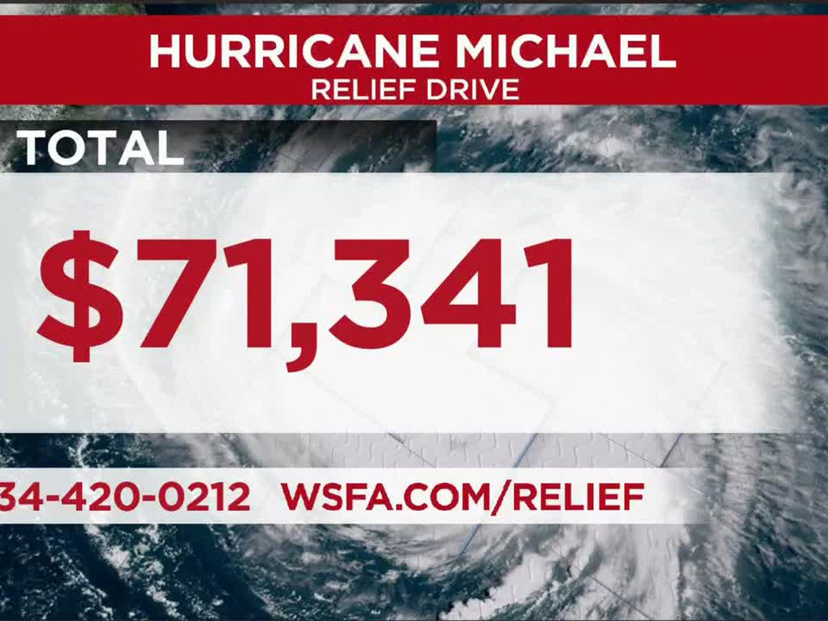 More than $71,000 donated during Hurricane Michael relief drive