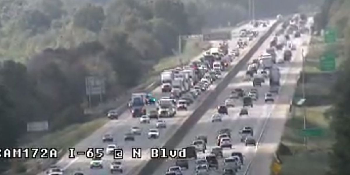 Crash prompts backups on I-65 SB near River Bridge