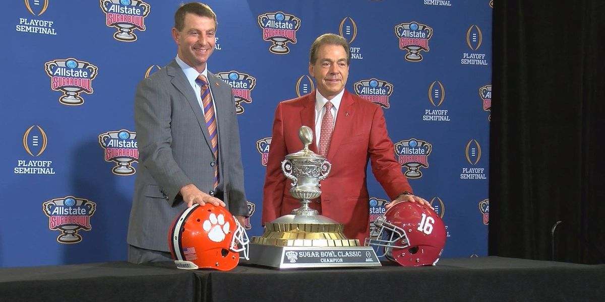 Saban, Swinney talk to media for last time before Sugar Bowl