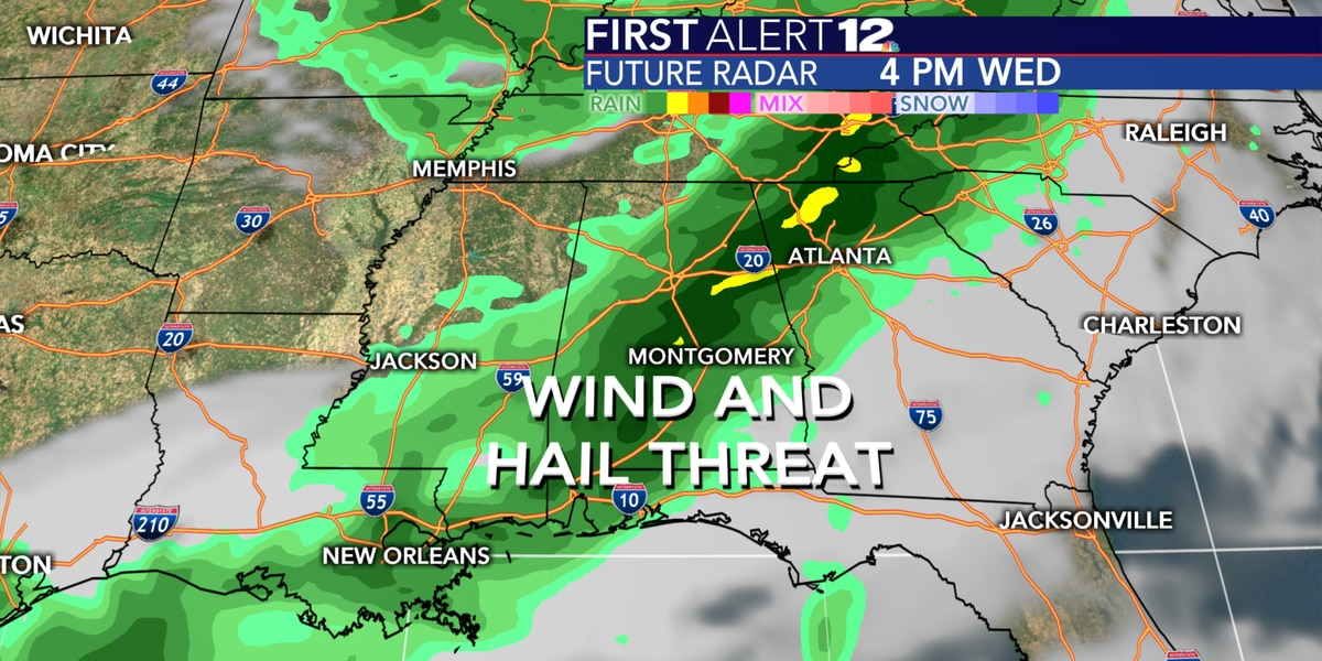 Dry through Tuesday, Storms return by Wednesday
