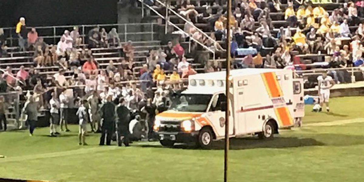 Red Level player injured in high school football game