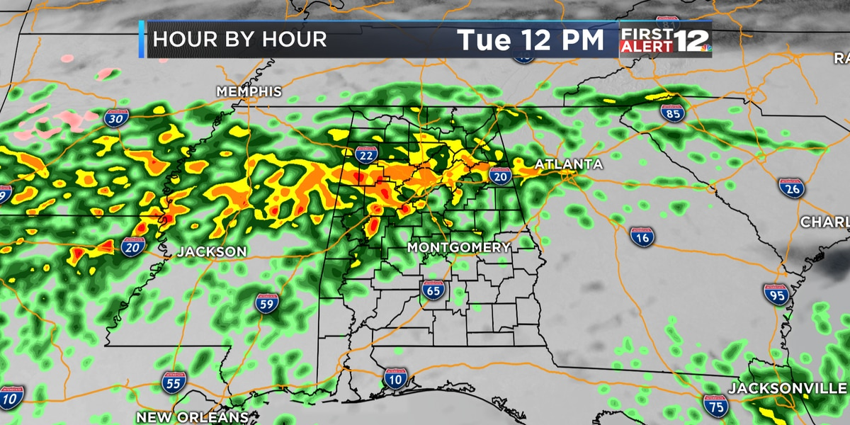 First Alert: Cool, dreary today ahead of milder temps, heavier showers