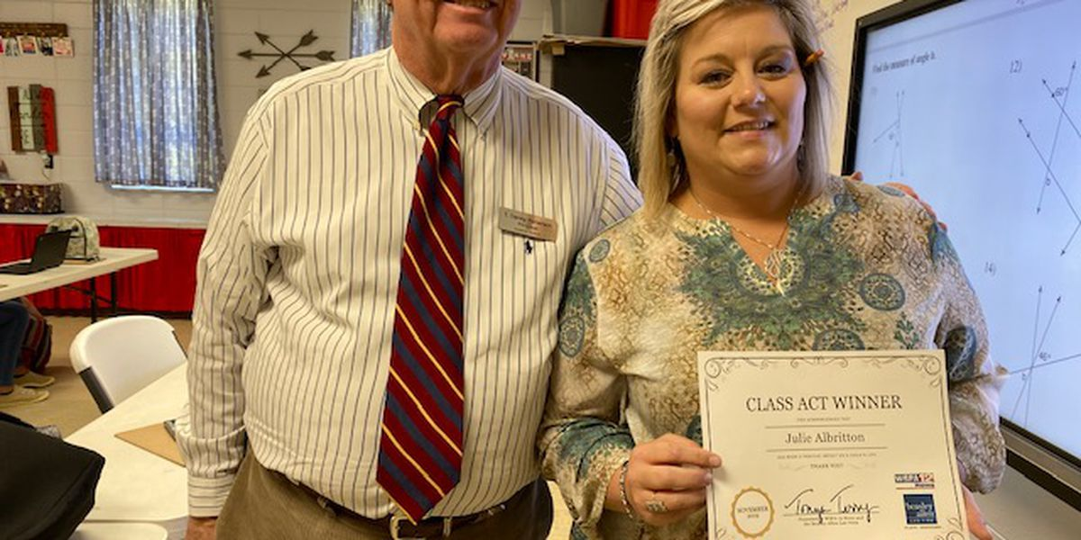 Class Act winner says her methods add up to success for students
