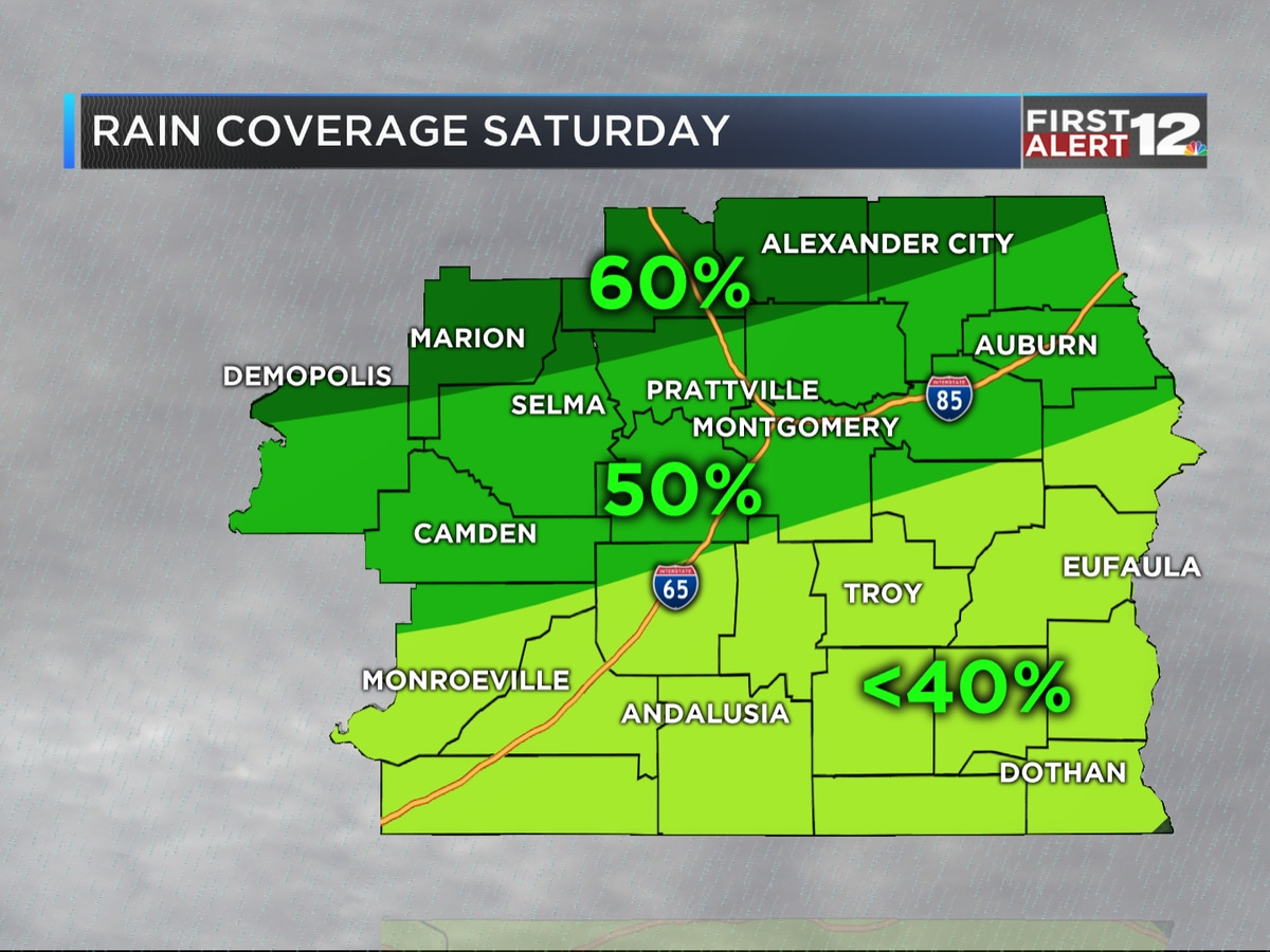 First Alert: Clouds increase Friday, some rain Saturday?