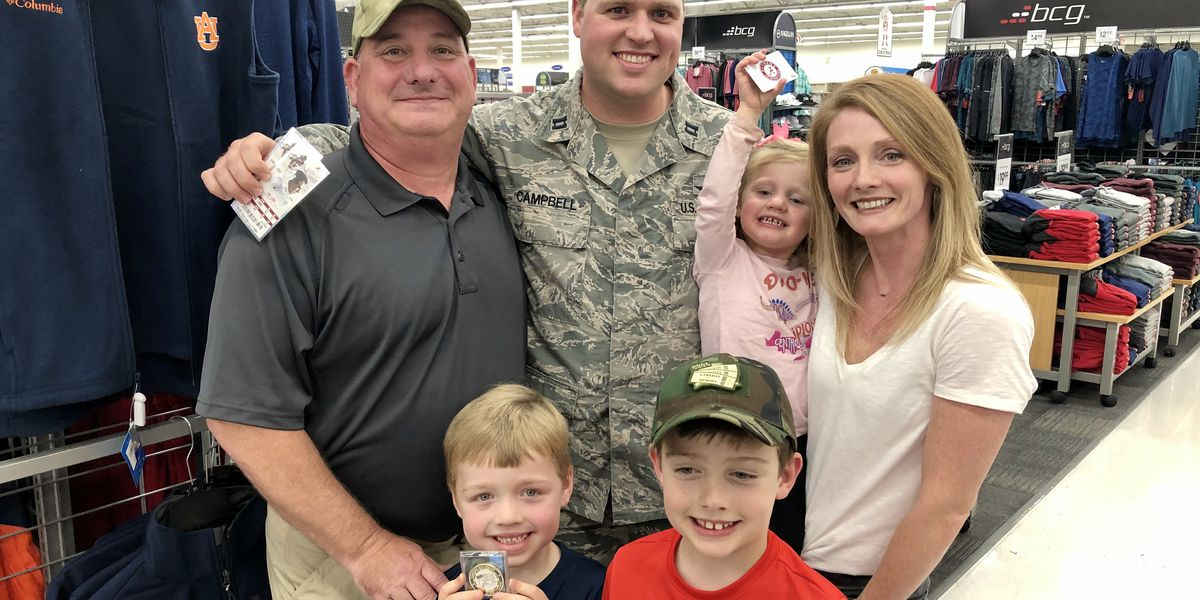 Captain at Maxwell AFB gets suprise shopping spree, Bama tix