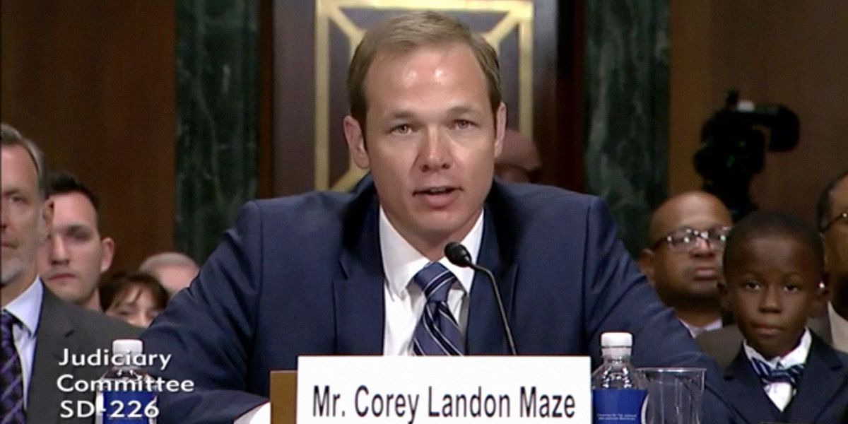 Deputy AG Maze confirmed to federal judgeship by U.S. Senate