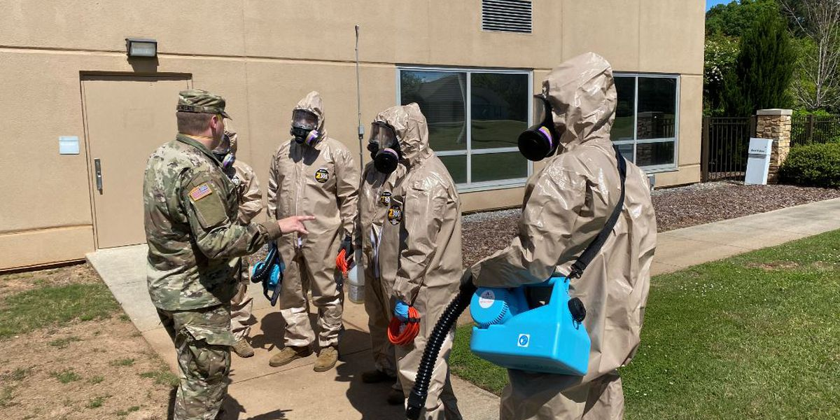 National Guard teams disinfect nursing homes with positive COVID-19 cases