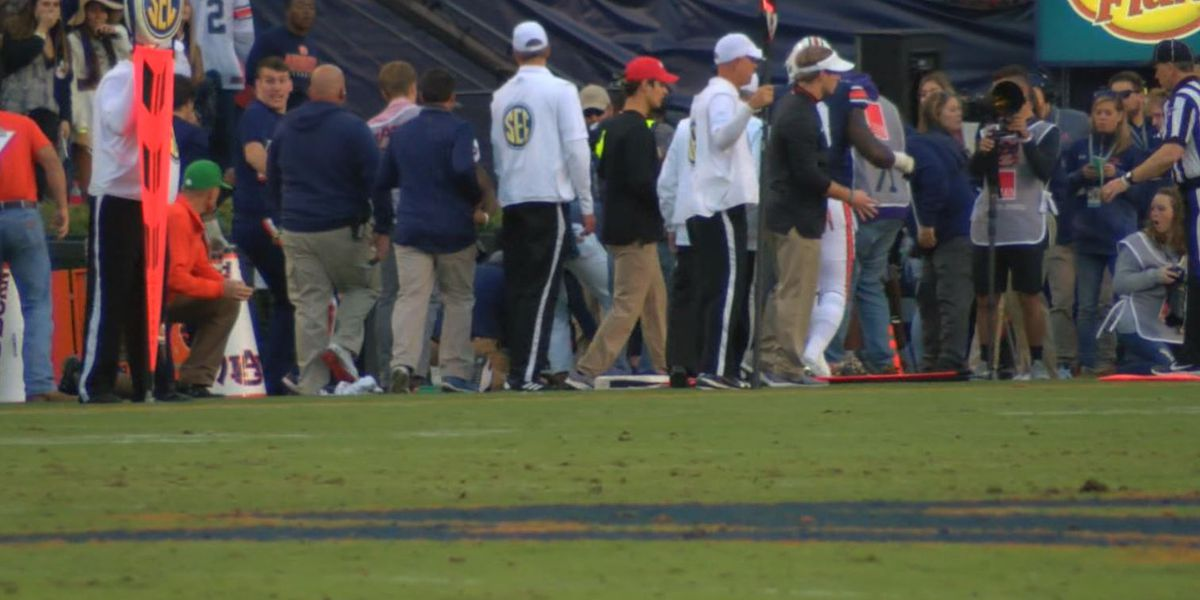 University of Georgia athletics intern injured in Auburn vs. Georgia game